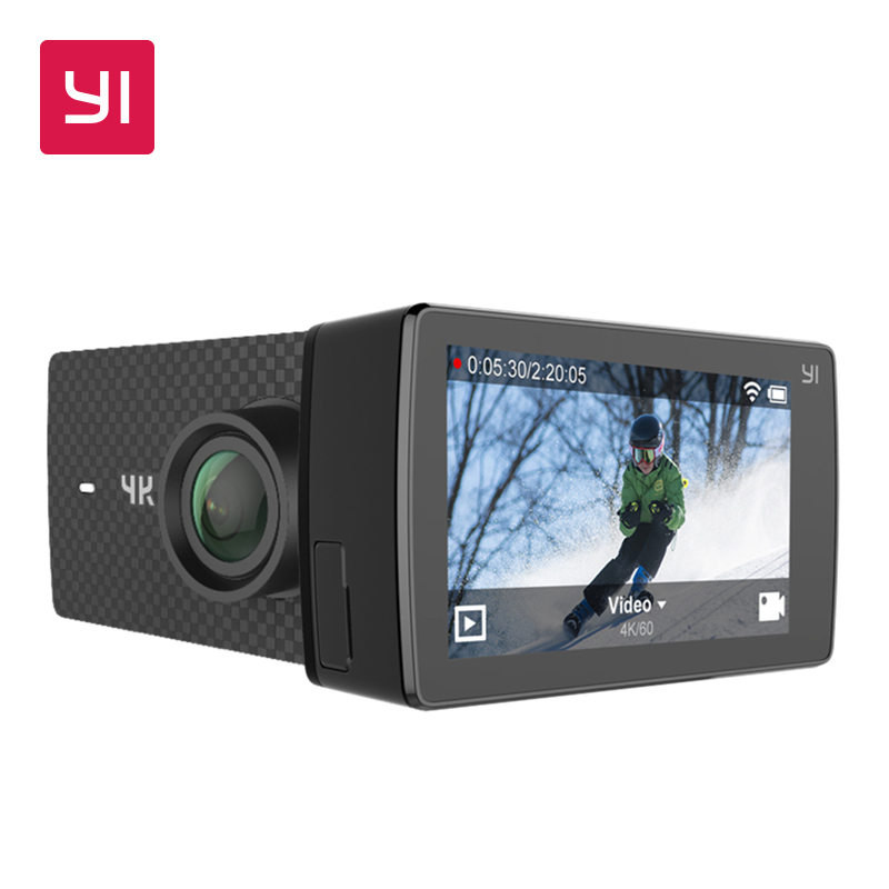 YI 4 K + (Plus) caméra d'action édition internationale premier 4 K/60fps Amba H2 SOC Cortex-A53 IMX377 12MP CMOS 2.2 LDC RAM EIS WIFI