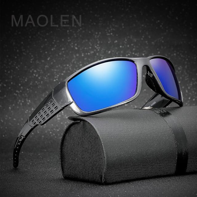 9abb2eb2b94 MAOLEN 2018 Polarized Sports Sunglasses For Man Women Running Fishing Golf TR90  Unbreakable Frame UV400 Pilot Sun Glasses