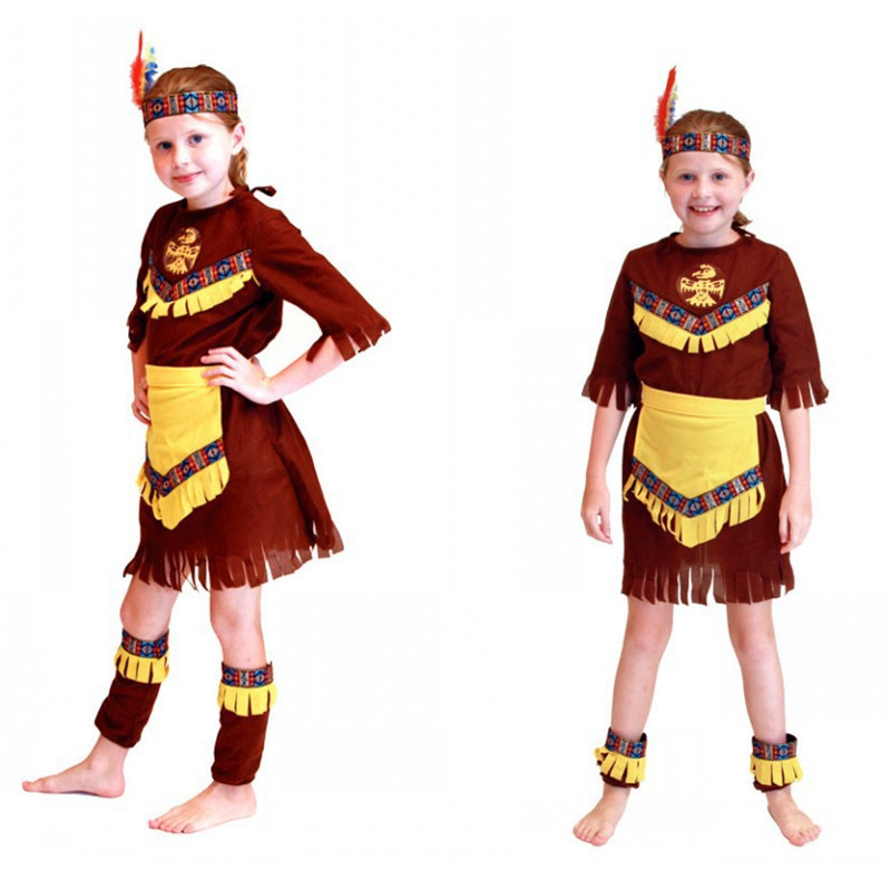 Enthusiastic Kids Girls Prince Of India Cosplay Halloween Hunter Costumes Masquerade Rave Party Children's Day Stage Show Performance Dress