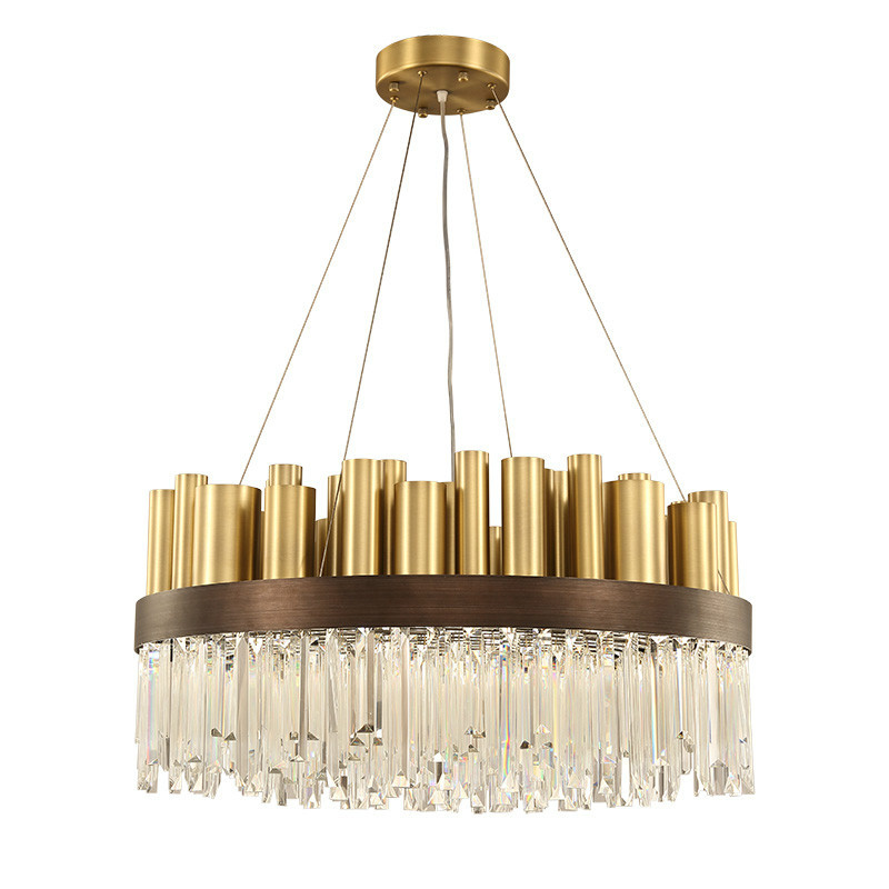 luxury large crystal chandelier lighting gold for living room villa foyer long crystal chandelier lamp art decor 100-240V