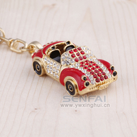 Novelty 3D Car Keychain Luxury Metal Rhinestone Key Chain Creative Car Key Ring Innovative Keychian For