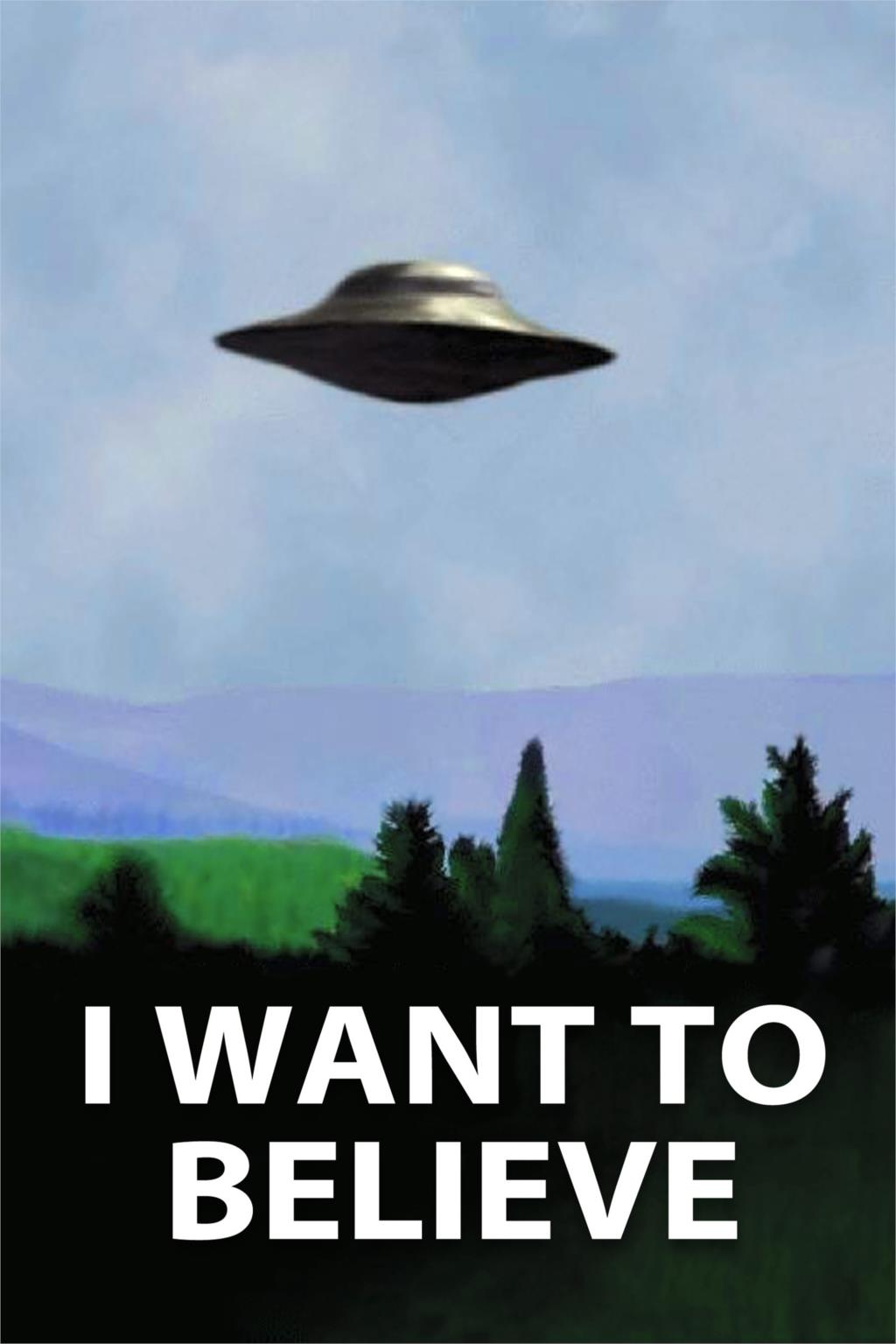 DIY frame UFO The X Files I Want To Believe TV Poster ... X Files I Want To Believe Book