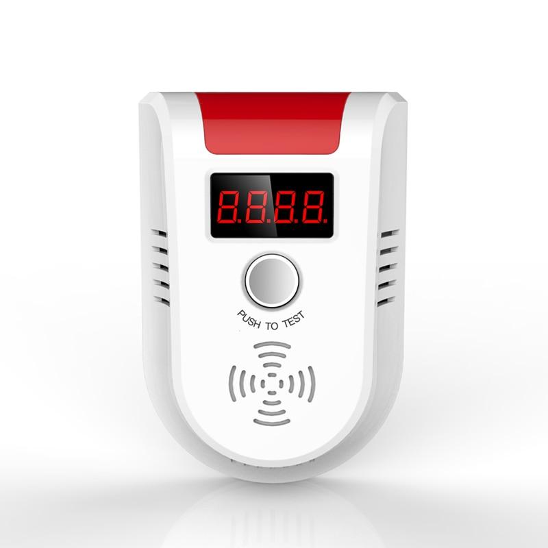 bilder für Digital LCD Display Drahtlose Gas Sensor-detektor 433 MHz Für Zuhause Alarmanlage