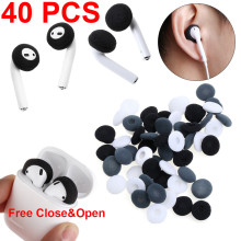 2 Pack 40 Pcs Soft Foam Replacement Soft  Earphone Foam Cover Sponge Ear Pad Case For Airpods Earpods Anti Slip Sponge Earpad