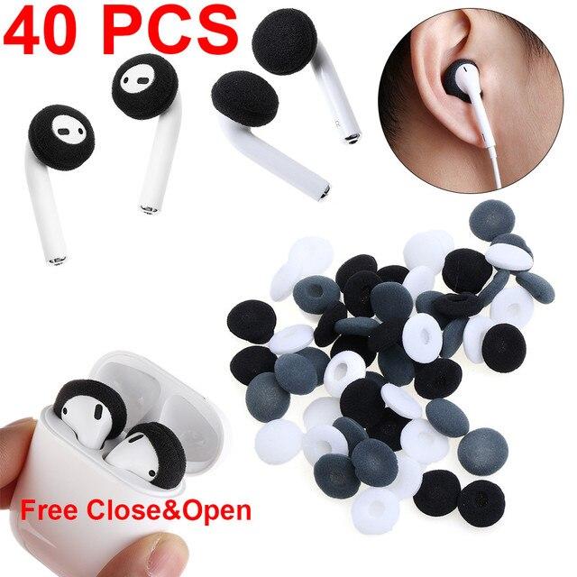 new product 22205 85612 40 pcs Soft Foam Replacement Soft Earphone Foam Cover Sponge Ear Pad Case  For Airpods Earpods Anti Slip Sponge Earpad