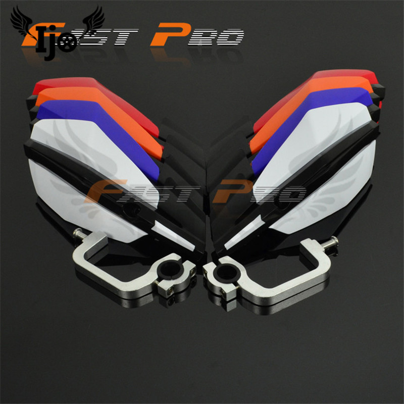 Beaucoup de couleur moto handguard protecteur protège-mains protection des mains moto motocross protection pare-brise universel