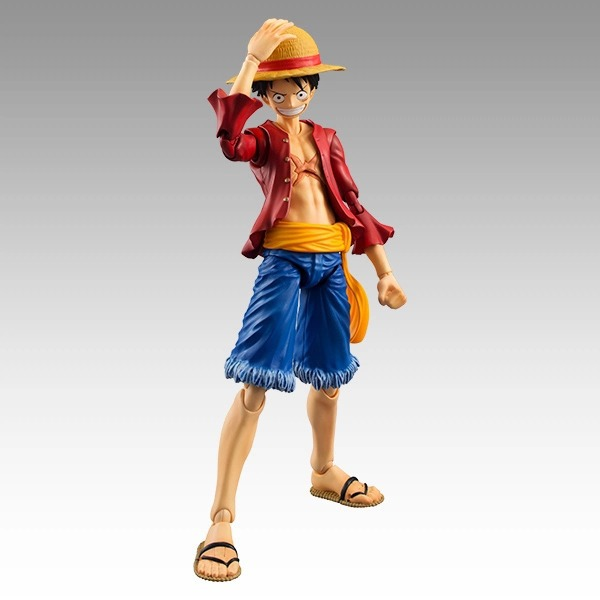 SANITGI One Piece Monkey D Luffy Battle Ver. Fire Fist Luffy PVC high quality 19cm Action Figure Collection Model Anime Toy