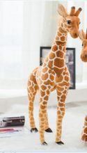 middle plush simulation giraffe toy lovely standing giraffe doll gift about 98cm