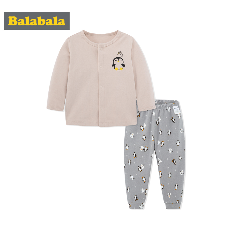 Balabala infant baby sleepwear clothes sets 100% cotton comfort and soft Homewear newborn clothes set for spring tshirt+pants