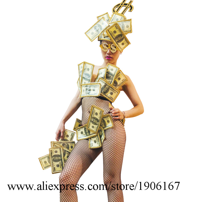 US dollar art design gogo bar ds costume sexy bikini performance clothing7