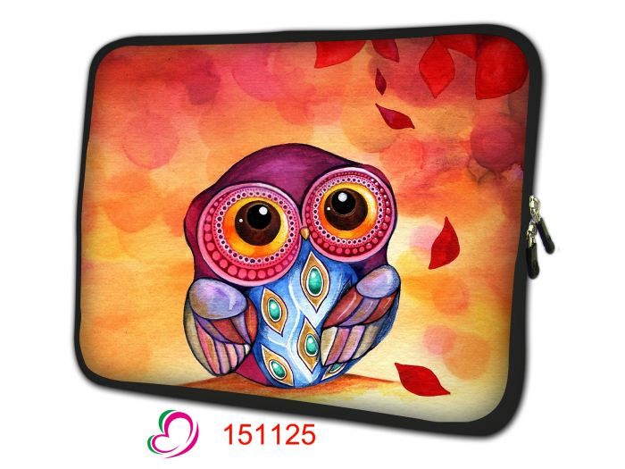 "Cute Owl Notebook Bag Smart Cover Tablet Bag Laptop Sleeve For 7"" 10'' 12 '' 13 '' 14 '' 15'' 17'' Macbook Hp Dell Laptop Bag"