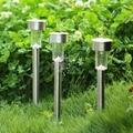10 pçs/lote impermeável ao ar livre LED jardim luz Solar paisagem jogo de luz frete grátis