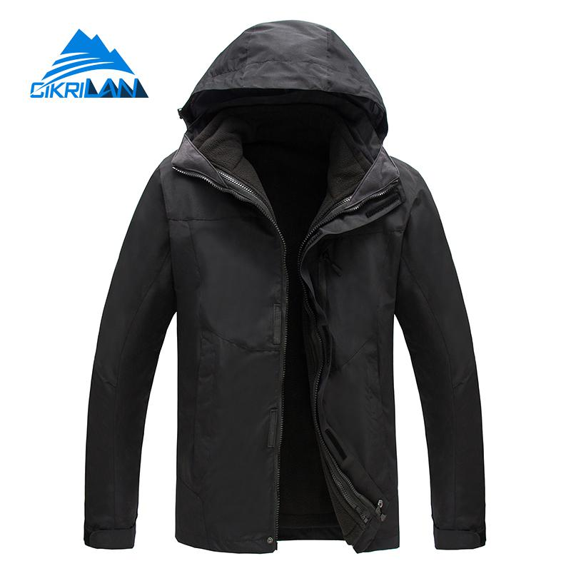 New Winter 3in1 Outdoor Jacket Men Skiing Trekking Coat Windstopper Waterproof Hiking Camping Jaqueta Masculino Fleece Liner new outdoor sport windbreaker waterproof jacket men hiking camping skiing climbing winter coat fleece lining jaqueta masculino