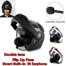 Горячая Продвижение Анфас Мотоциклетный Шлем Доступны Встроенный Bluetooth Гарнитуры Двойной Линзы Шлем Casco Capacetes Зоман FF115