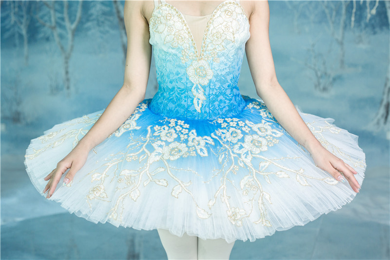 Professional ballet tutu pancake tutu classical ballet Princess ombre dyed pale blue Princess Florina in The Blue Bird in Ballet from Novelty Special Use