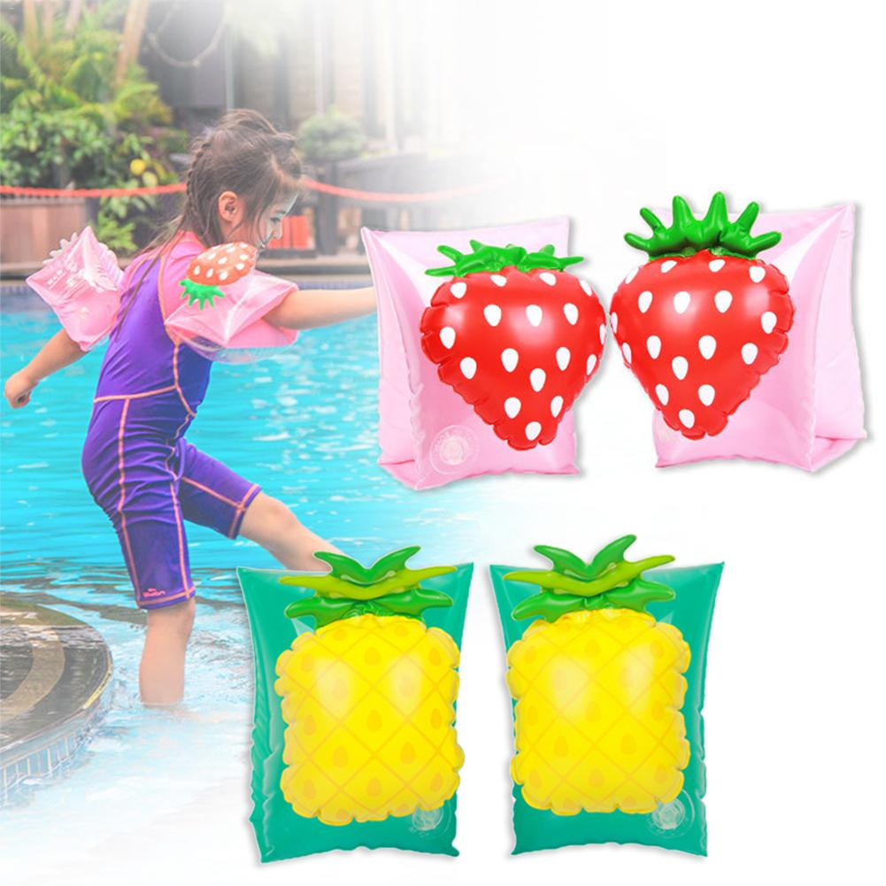 Swimming Arm Circle Strawberry Pineapple Style Swimming Wading For Children Kids Boys Girls