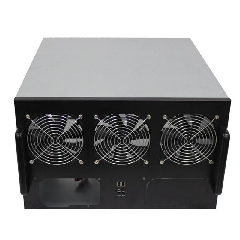 QUEENWAY HIFI Audio AMPLIFIER 6-GPU ETH ETC ZEC XMR Multi video card 6U 19 standard case chassis box 482*470*266 mm vg 86m06 006 gpu for acer aspire 6530g notebook pc graphics card ati hd3650 video card