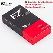 EZ Revolution Cartridge Needles 3.5 mm Regular Medium Taper #12 Curved Magnum Tattoo Needles for Cartridge Machine & Grips алексей архиповский 2020 02 15t20 30