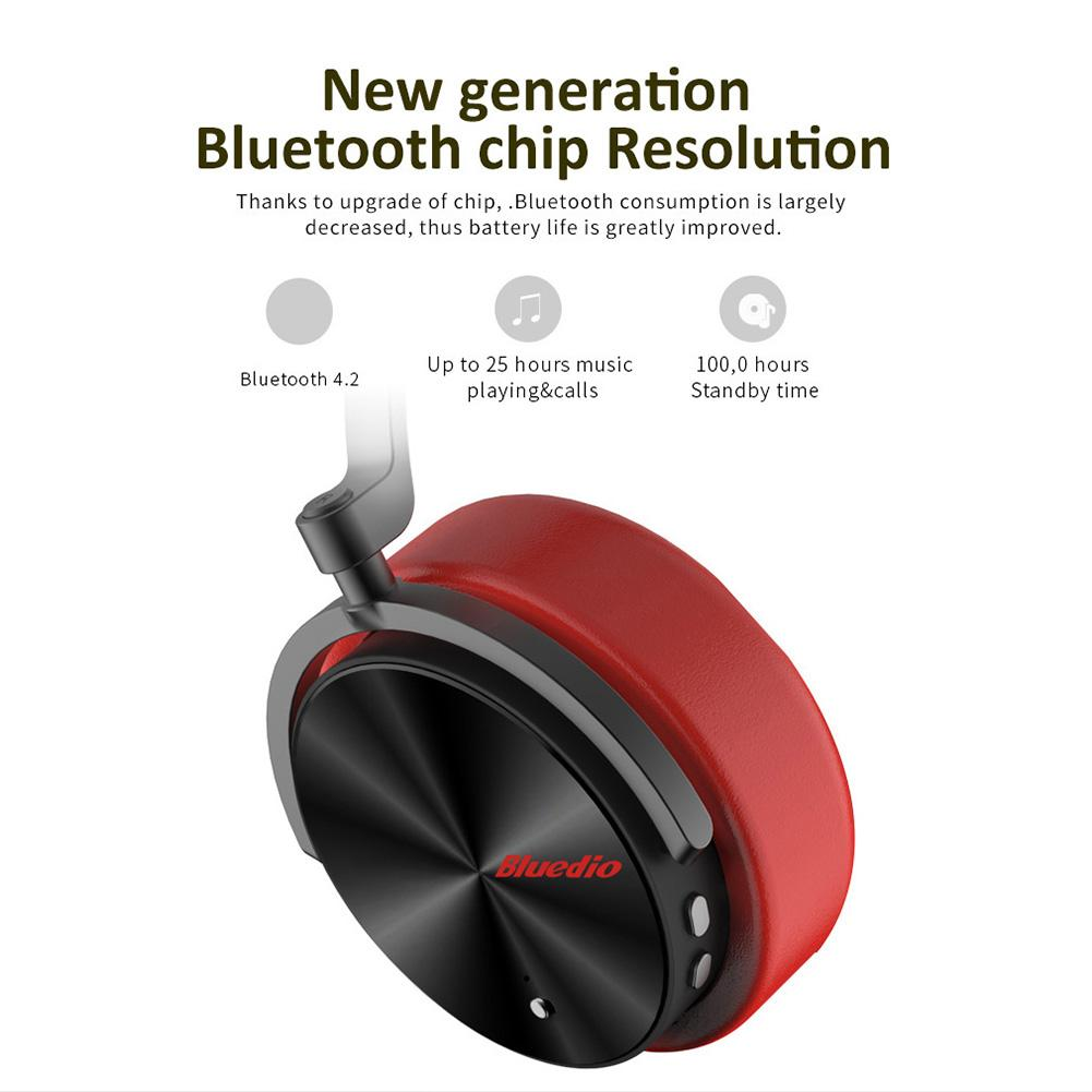 Fashion Bluedio T5 Noise Reduction Wireless Bluetooth Headphone Sports Headset with Mic