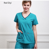 surgical scrub gown medical suit summer breathable cotton nurse scrub uniform tops and pants