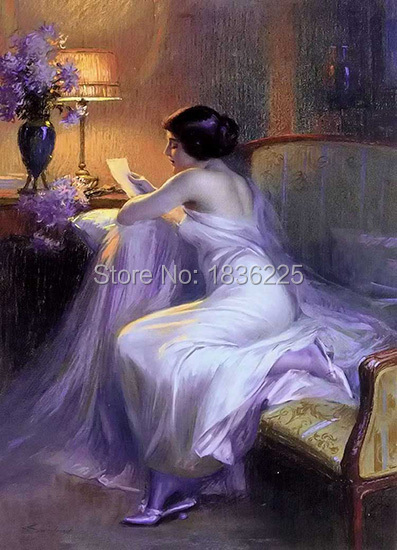 Canvas Oil Painting wall art Beautiful naked women Western sex pictures Pictures of naked girls oil paintings for bedroom decor