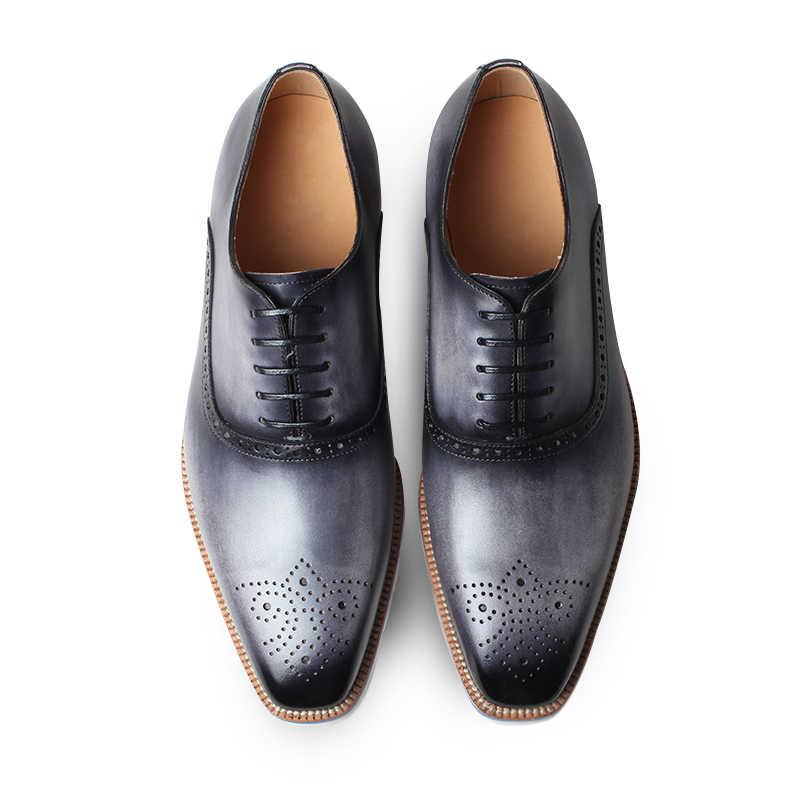 Patina VIKEDUO 2019 Verão Novos Tênis Brogue Casual Mans Calçados Casamento Couro Genuíno Escritório Oxford Vestido Sapatos Zapatos