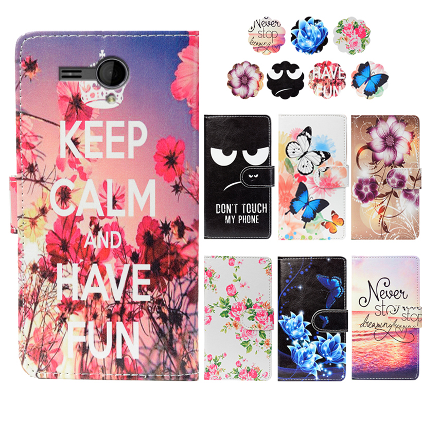 PU Leather Slip-resistant Flip Print Wallet Case For Fly IQ4502 ERA Energy 1 Case Cover Book Case 5.0 Ultra-thin Phone Cover