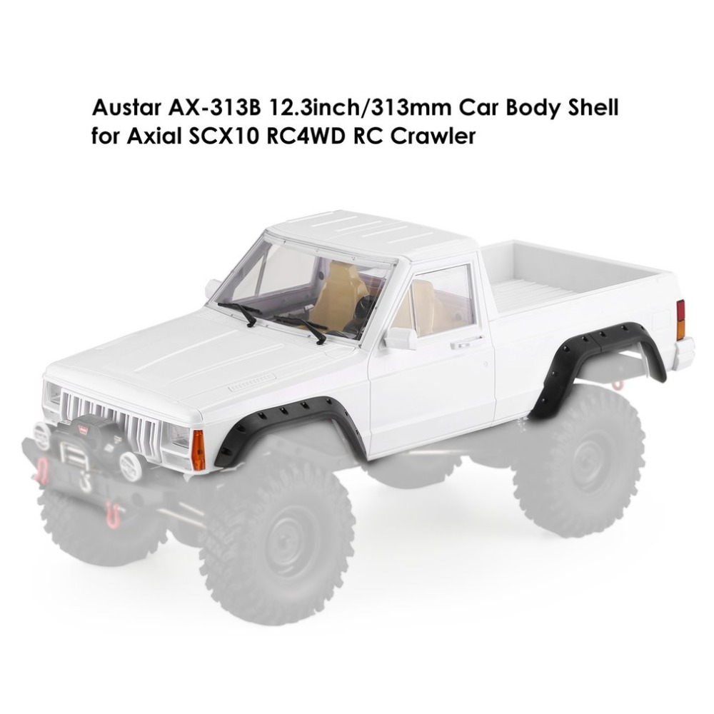 AX-313B 12.3 inch/313mm Passo Pickup RC Auto Corpo Borsette per 1/10 RC Camion Crawler Parti di Giocattoli Assiale SCX10 e SCX10 II 90046 90047