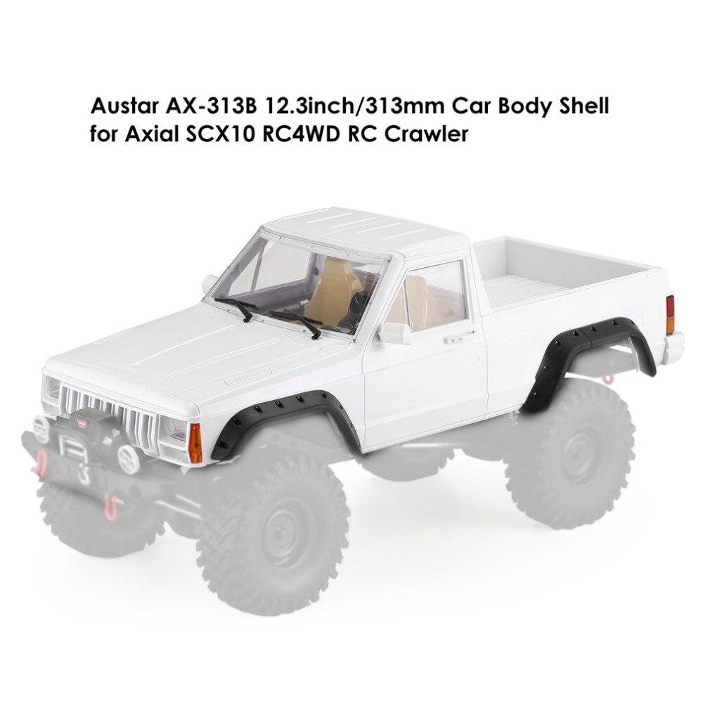AX-313B 12,3 inch/313mm distancia entre ejes Pickup RC Car Body Shell para 1/10 RC camión Crawler juguete piezas Axial SCX10 y SCX10 II 90046 90047