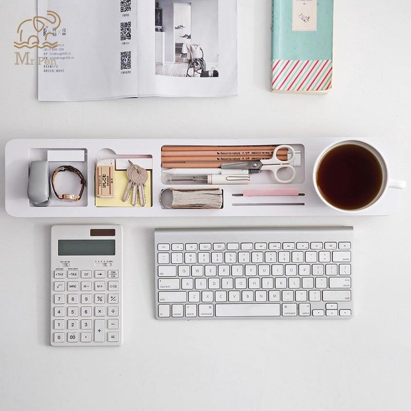 Razonable Organizador De Escritorio De Oficina En Casa Soporte De Almacenamiento De Escritorio Multifunción Cubierta De Teclado Accesorios De Oficina Estante Organizador De Bolígrafo