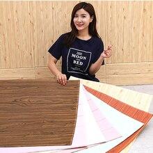 DIY деревянная 3D Наклейка на стену для гостиной домашний декор PE пена водонепроницаемое покрытие для стен обои для ТВ фон 3D наклейка s