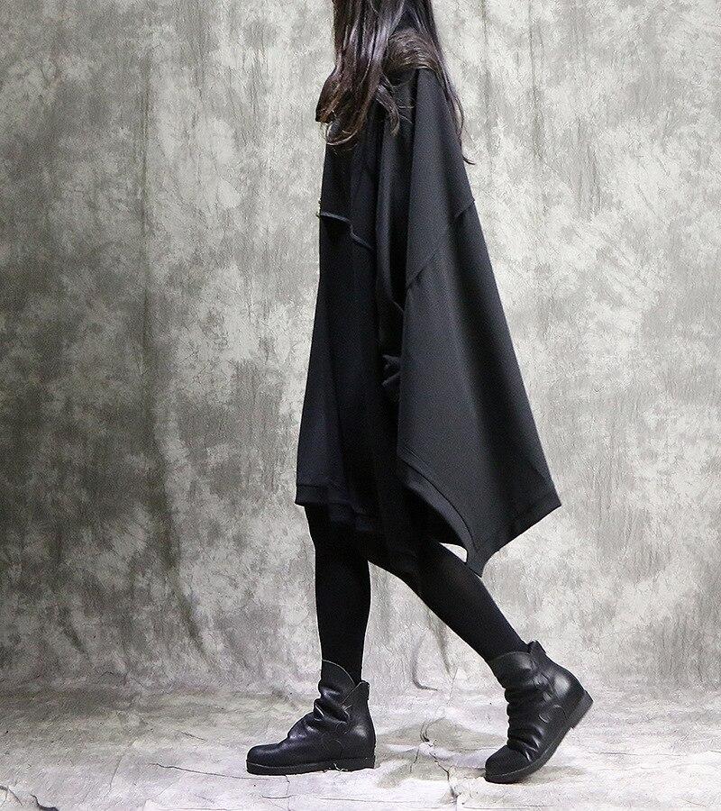 Vestido holgado de manga murciélago de Color sólido para mujer vestido de Primavera de talla grande vestidos de retazos para mujer 2018-in Vestidos from Ropa de mujer    3