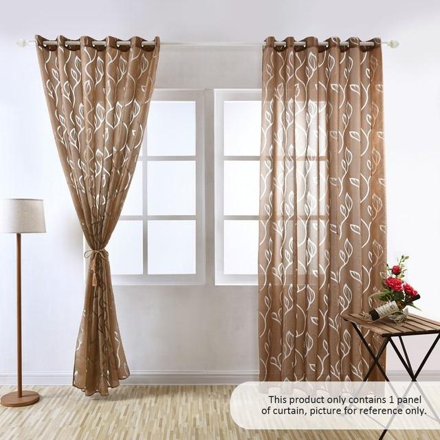 Corta hojas diseño cortinas de la ventana del dormitorio cocina ojal  superior semi apagón listo morden para habitación