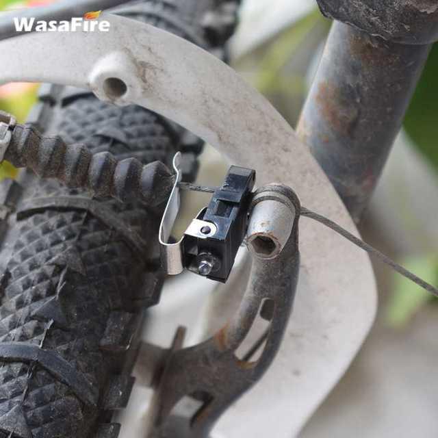 Wasafire Велосипедный Спорт сзади светодиодные лампы один переключатель режима Пластик тормоза мини велосипед загорается красный Велоспорт фонари свет на горных велосипедах