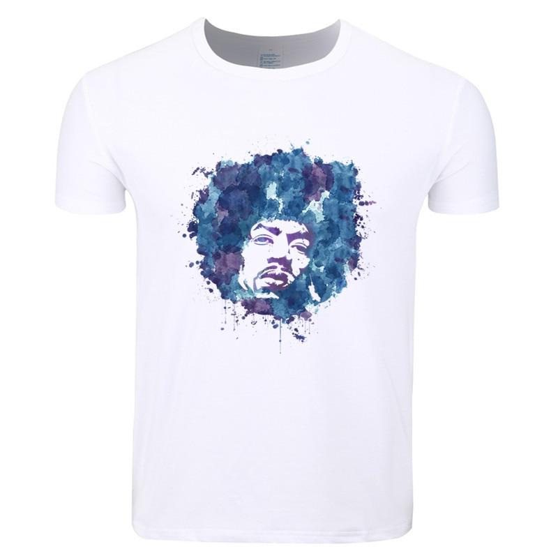 Asian Size Men And Women Print Guitar Men Jimi Hendrix Fashion T-shirt O-Neck Short Sleeves Summer Casual Unisex T-shirt HCP4141