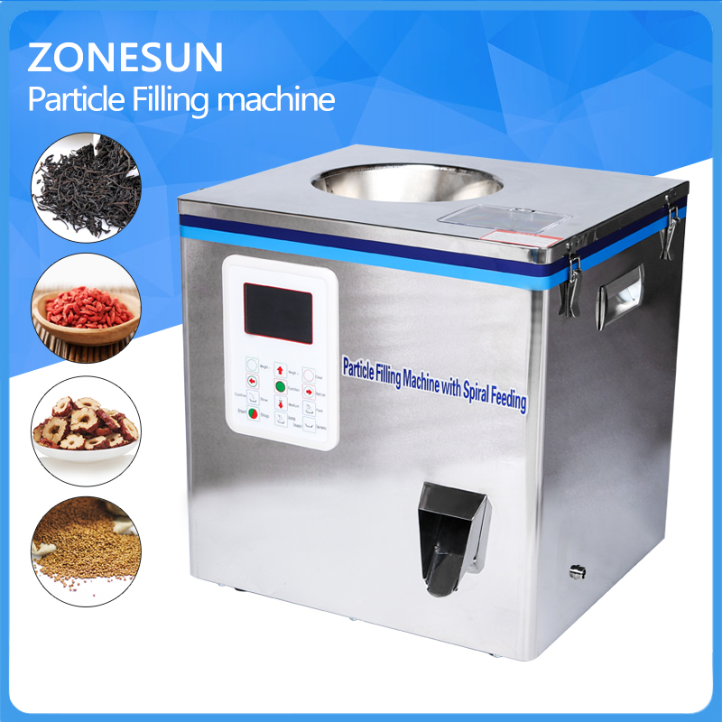 Tea Packaging machine, sachet filling machine, can filling machine,granule medlar automatic weighing machine powder filler  stainless steel granule weighing filling machine with feeder