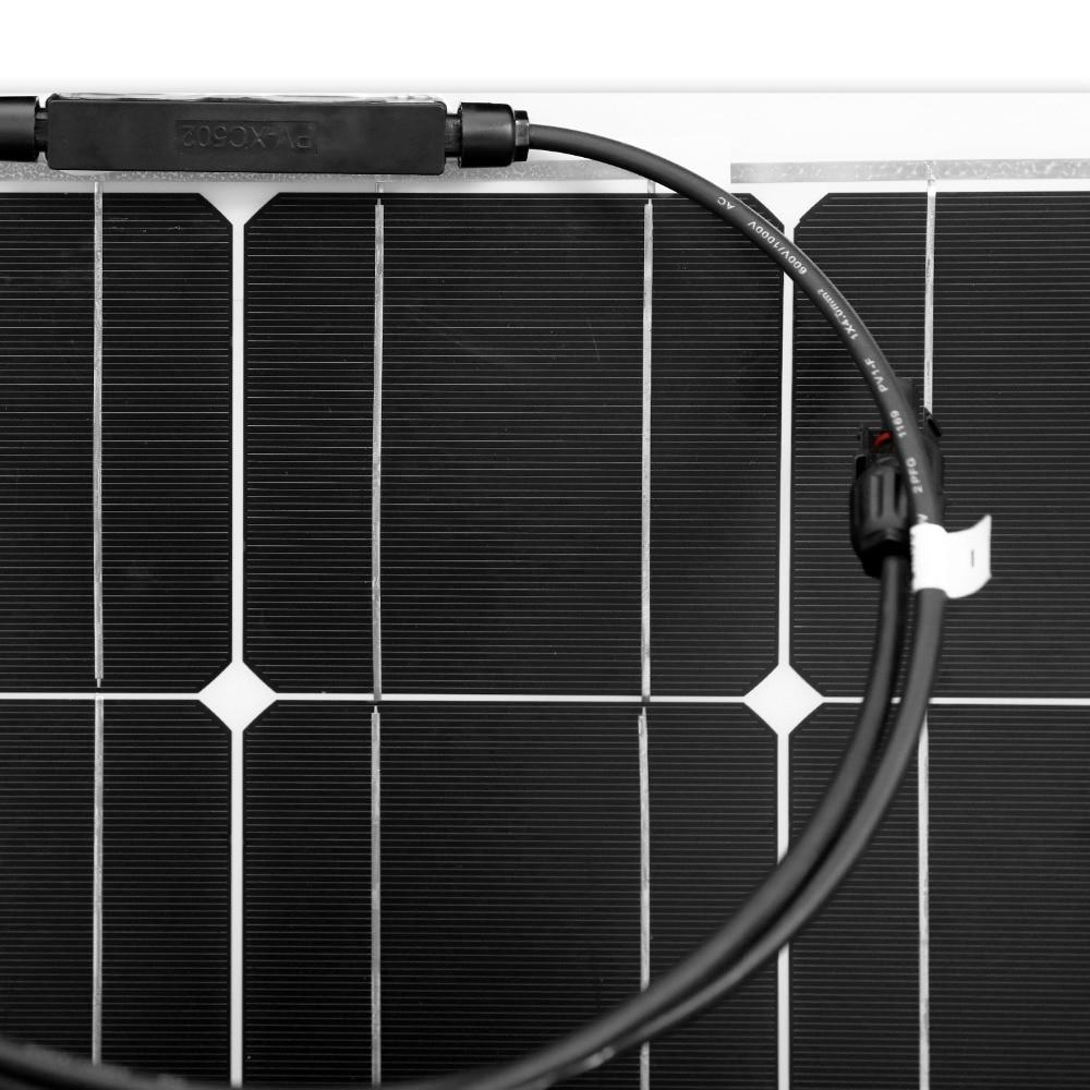 Image 4 - Dokio 12V 100W Monocrystalline Flexible Solar Panel Portable 100W Panel Solar For 16V Car/Boat/Home Panel Solar 200w China-in Solar Cells from Consumer Electronics