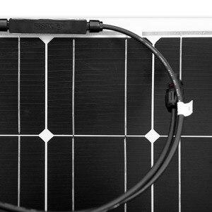 Image 4 - Dokio 12V 100W Monocrystalline Flexible Solar Panel Portable 100W Panel Solar For 16V Car/Boat/Home Panel Solar 200w China