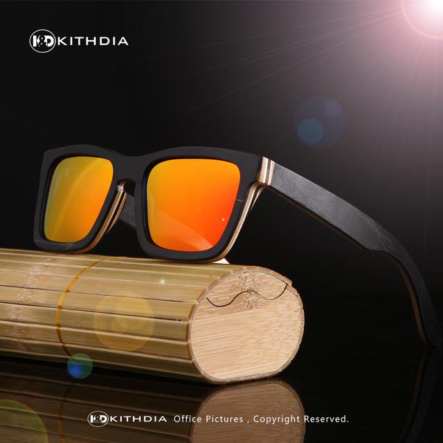 KITHDIA Retro Men Bamboo Sunglasses