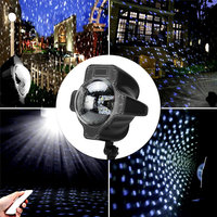 HUANJUNSHI LED Stage Lighting Effect Waterproof Christmas Halloween Party Snowflakes Remote Control Laser Projector Light