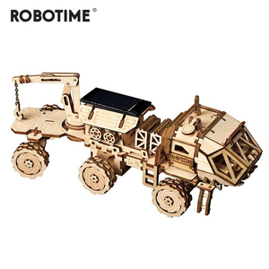 Image 4 - Robotime Creative DIY 3D Discovery Rover Moveable Solar Energy Powered Model Building Kits Toy Gift for Child Adult LS504