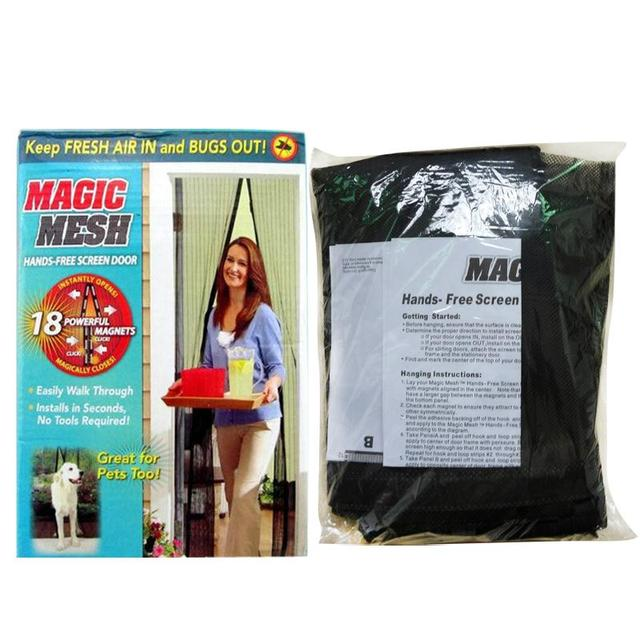Free Shipping Best Quality Mosquito Net Door Curtain Net Magic Mesh Insect  Fly Netting Screen Magnets