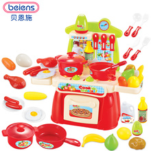 ФОТО beiens kids kitchen toys cooking toy play for children toys pretend play toys with light sound effect funny play house miniature