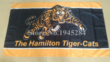 Hamilton Tiger-Cats Flag  New 3x5ft 90x150cm 100D Polyester Flag Banner CFL ,  free shipping