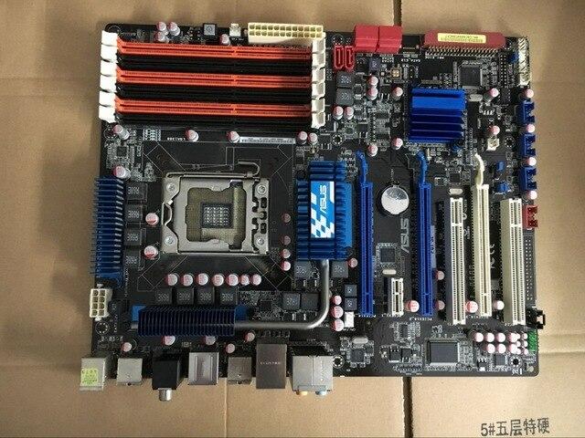 Оригинальные платы для ASUS P6T SE LGA 1366 DDR3 24 ГБ USB2.0 Core i7 Extreme/Core i7 X58 Desktop motherborad Бесплатная доставка