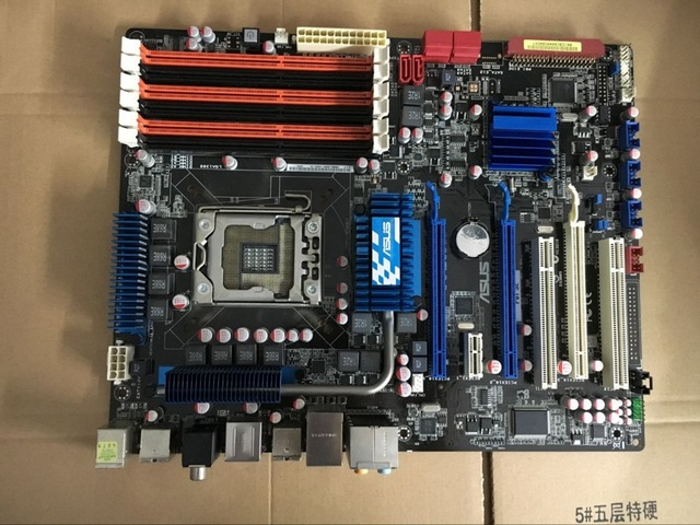 original motherboard for ASUS P6T SE LGA 1366 DDR3 24GB USB2.0 Core i7 Extreme/Core i7 X58 Desktop motherborad Free shipping