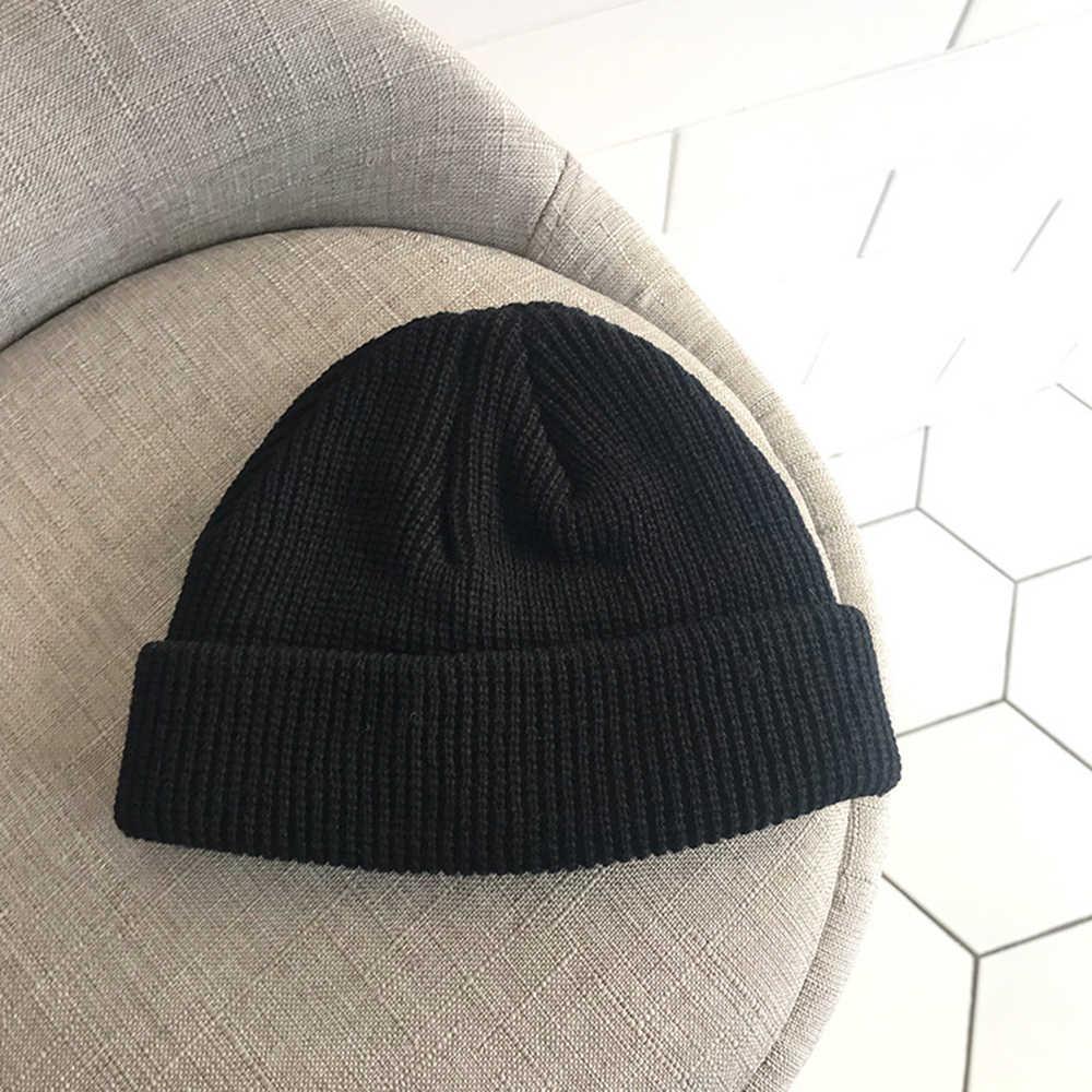 28902162ede ... Adult Men Knitted Skullcap Casual Short Thread Hip Hop Hat Beanie Wool Knitted  Beanie Skull Cap ...