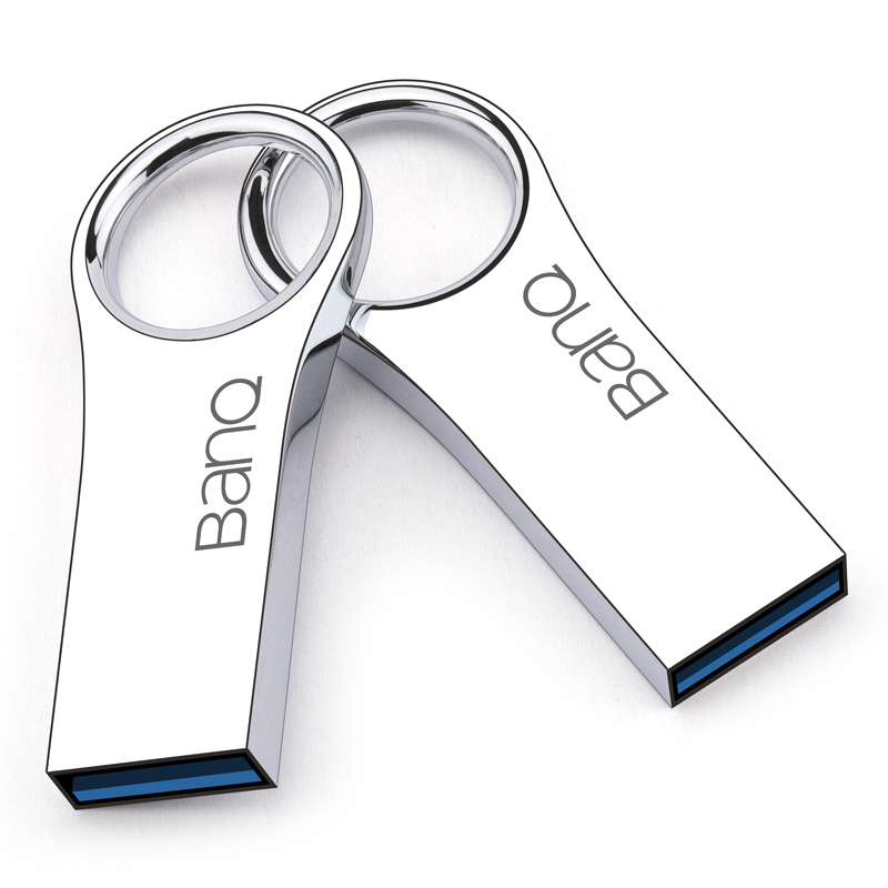 BanQ P80 128GB 64GB 32GB 16GB USB 3.0 Flash Drives Fashion High Speed Metal Waterproof Usb Stick Pen Drive Free shipping