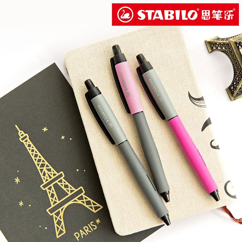 Germany STABILO 268 Press Gel Pen Black Signature Pen Gel Pen Student Exam Office 1/7PCS germany schneider simple gel pen 861 business office black signature pen 0 5mm 1pcs