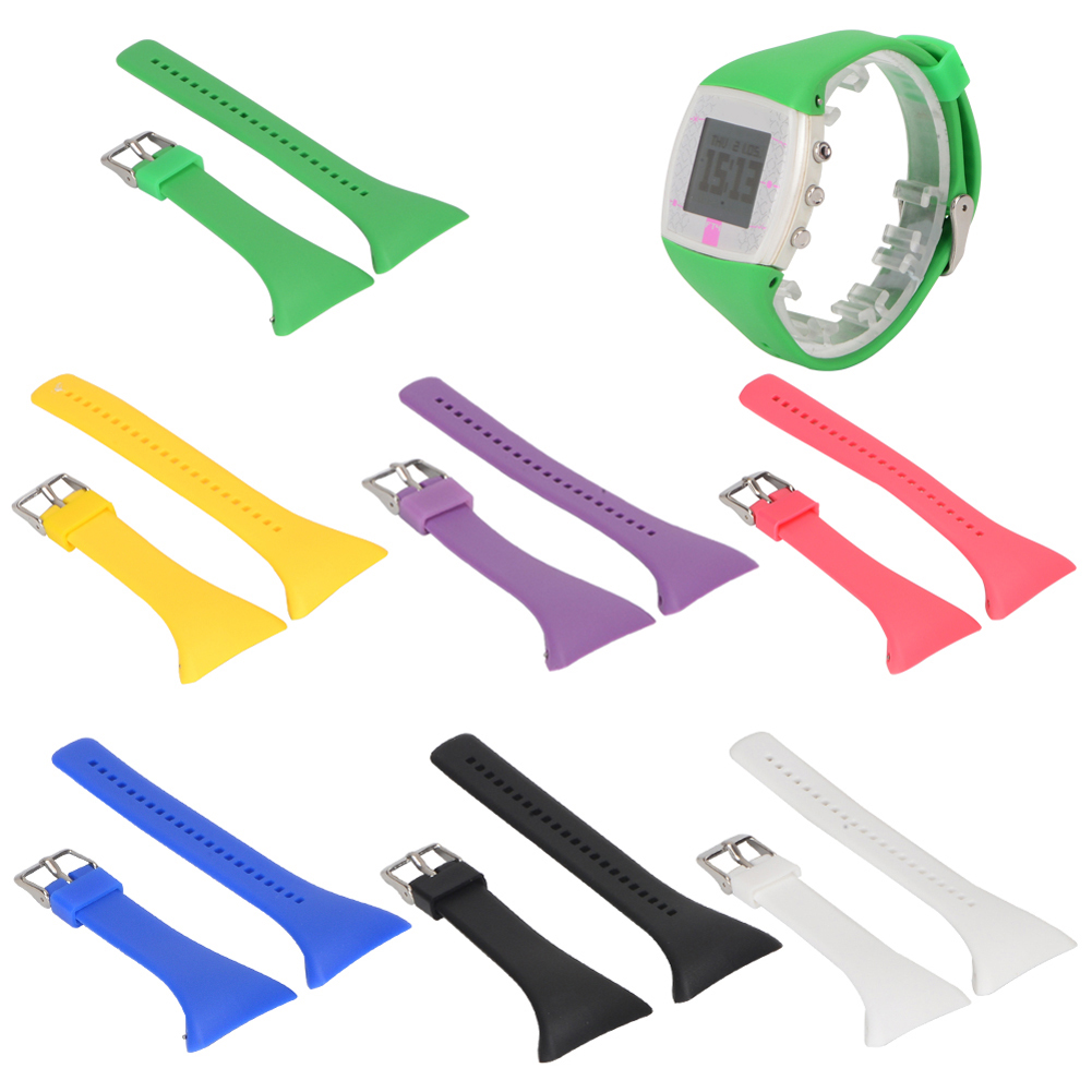 7 Colors Smart Watch Band Strap For POLAR FT4 FT7 Genuine Silicone Rubber Watch Band Wrist Strap Watch Relogio Watch Strap
